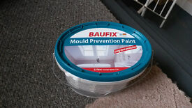 Unopened anti-mould paint 2.5L white