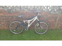 Silver Raleigh Mountain Bike Full Suspension