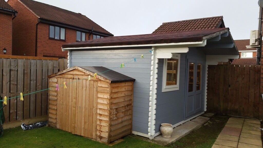 Log Cabin Summer House Office 3m X 4m 45mm In Chester
