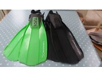 Diving fins. TUSA (Liberator Ten). Size Small (39-42). 2 pairs available., Green or Black