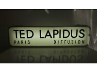 "Vtg Retro French TED LAPIDUS ""Diffusion Homme Paris"" Double Sided Neon Light Shop Display Sign Large"