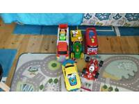 Boys toy bundle of cars and phonic bus