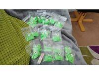 Bright green acrylic nail tips