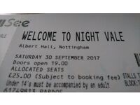 Welcome To Nightvale in Nottingham - Two Tickets, Less Than Face Value