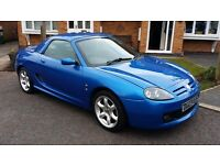 2003 MG TF 1.8 135 Cool Blue convertible in Trophy blue. Blue hood and hardtop. Lovely car