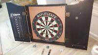 Dart Board and Case with 6 Darts