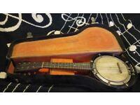Reliance Mandolin-banjo (old) in original case - NEGOTIABLE