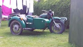 dnepr 650 with reverse and sidecar