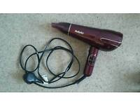 Wine colour Babylyliss Hairdryer model S238A
