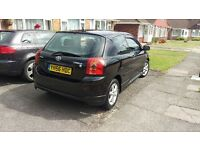 TOYOTA COROLLA 1.6 VVTi 3 Dr Manual very good condition