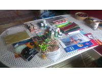 Selection of varied crafts/ arts bits and pieces, £7 for the lot