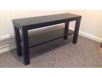 Small Ikea black table