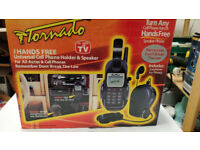 Tornado Hands free phone holder and speaker.