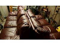 2 Free leather couches. 3 and 2 seater.