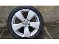 Audi A3 sport alloy wheel and tyre