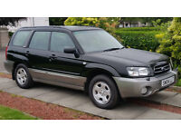 SUBARU FORESTER. 4X4. 2004. SERVICE HISTORY. LONG MOT. REDUCED PRICE.