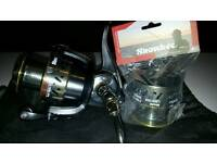 Snowbee raptor sw reel as new with spare spool.