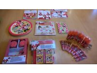 Minnie Mouse Cafe birthday party bundle- games, banner, plate, party bag, candy, cupcake cases