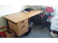 Office desk 6ft x 31/2 in good order would need collected