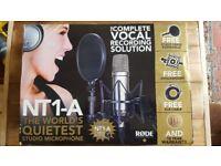 Rode NT1-A Studio microphone bundle.