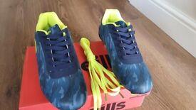 ONeills Cobra Firm Ground Laced Football Boots Junior Marine / Yellow *BRAND NEW*
