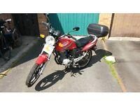 Sukida Tough SK125 Motorcycle with top box