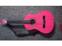 Real pink guitar