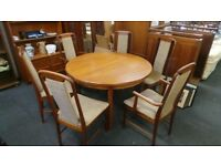 Retro Vintage Teak Danish Style Table With 6 Chairs,Possible Delivery