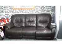 2+3 leather reclyner sofa