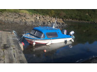 Vanguard 16ft inshore cruiser/fishing boat 60hp mariner & 4.5hp evinrude. with trailer