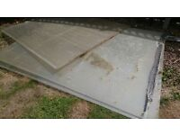 Used Conservatory Plastic Roofing Approx 3m x 2m