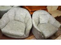 Pair Of Beautiful Art Deco Style Occasional Arm Chairs With Scatter Cushions