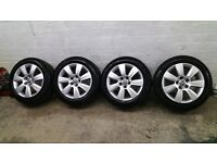 genuine audi a6 17 alloys 5x112 4 michelin tyres 6mm passat a4 a8 vw caddy superb
