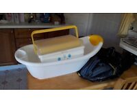 Baby bath and changing items