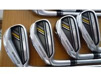 Left handed taylormade rocketbladez irons.