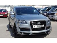 AUDI Q7 TDI QUATTRO S LINE WITH A LOVELY COLOUR COMBINATION AND EXCEPTIONALLY LOW MILES (grey) 2009