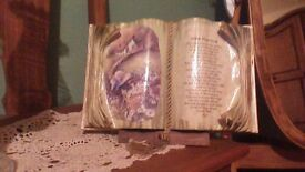 MOTHER POEM ORNAMENTAL BOOK, COMPLETE WITH STAND..BOXED