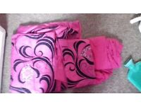 PRICE DROP!!! Pink and black double bedding