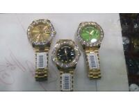 Iced out big face Rolex automatic sweeping movement