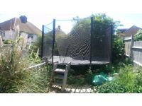 Big Trampoline free to collector . I can help dismantle .Steps included .Phone Bob am.