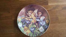 Flower Fairy Plate by Cicely Mary Barker - The Crocus Fairy