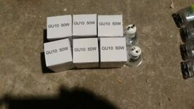 GU10 50watt light bulbs (10 for £5 NEW)