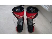 Alpinestars race boots size UK7.5
