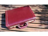 Real leather expanding briefcase in Burgandy by Jacob
