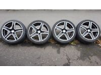 VW set of 4 17inch Fox Alloy wheels with 205-40-17 tyres
