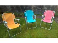 1960's vintage retro foldable fabric and metal gdn chairs Ballymoney / Dromore, Co Down