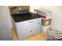 Printer Samsung CLP-680ND colour laser printer with extra cartridges