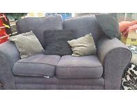 Black Fabric sofa. Very good condition