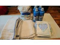 Bottles steriliser,recyclable nappies and sterilising fluid