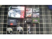 Nintendo 64 boxed 2 controllers with goldeneye boxed